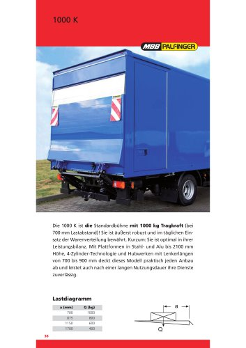 Mbb 1000: MBB C 750 L - Palfinger - PDF Katalog