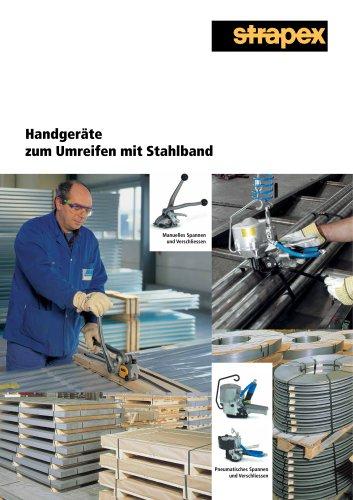 Handgeräte zum Umreifen mit Stahlband