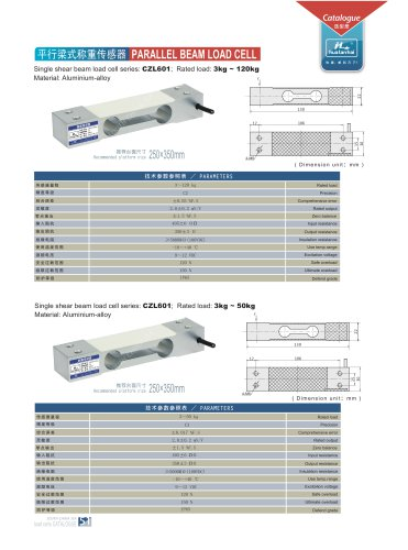 parallel beam load cell