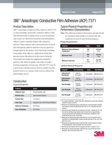 3M Anisotropic Conductive Film Adhesive (ACF) 7371