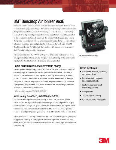 3M? Benchtop Air Ionizer 963E