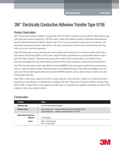 3M Electrically Conductive Adhesive Transfer Tape 9706