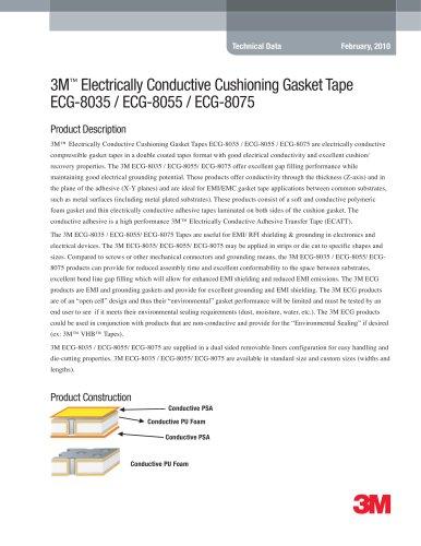 3M Electrically Conductive Cushioning Gasket Tape ECG-8035 / ECG-8055 / ECG-8075