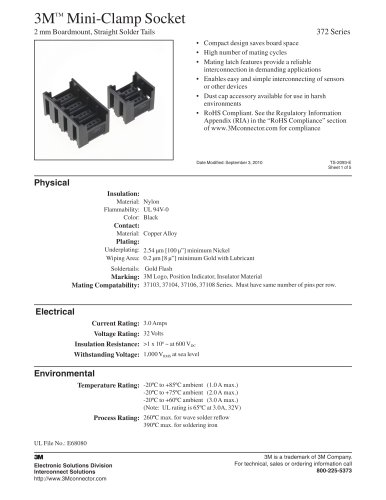 3M? Mini-Clamp Socket, 372 Series