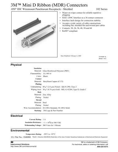 3M? Mini D Ribbon (MDR) Connectors