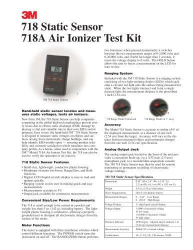 3M(TM) Static Sensor 718 Brochure