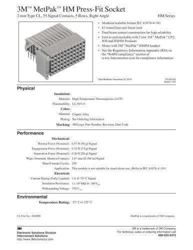 MetPak ? HM Press-Fit Socket