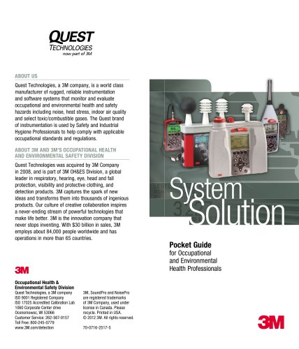 3M? Detection Pocket Guide Brochure