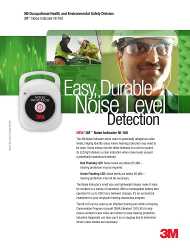 3M Noise Indicator NI-100 Brochure