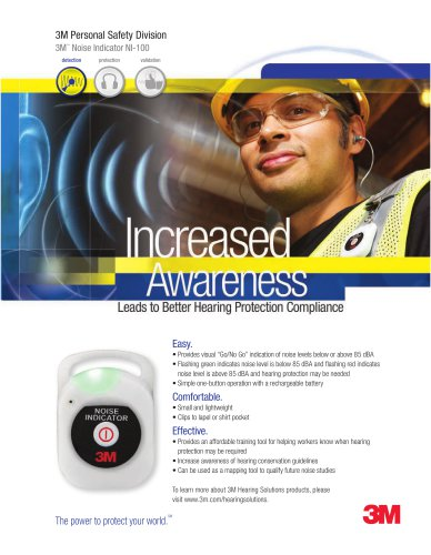3M? Noise Indicator NI-100 Brochure