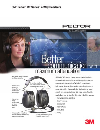 3M Peltor MT Series 2-Way Headsets