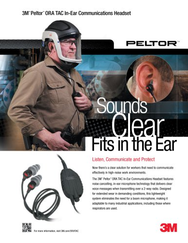 3M Peltor ORA TAC In-Ear Headset