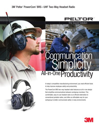 3M Peltor PowerComm-BRS Two-Way Radio Headset