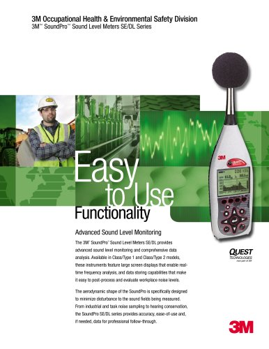 3M SoundPro Sound Level Meter Brochure