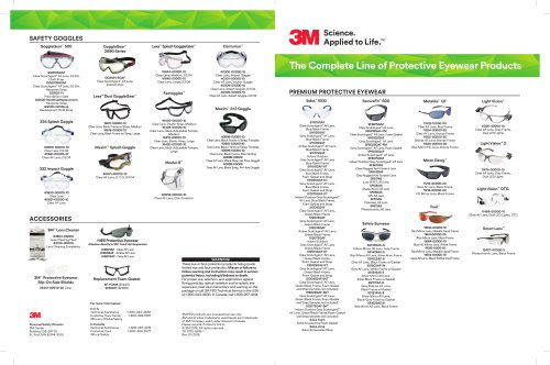 The Complete Line of Protective Eyewear Products