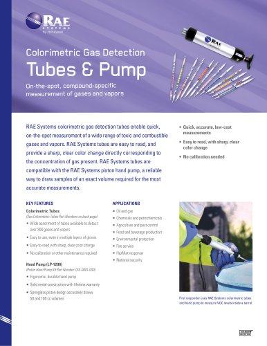 Colorimetric Gas Detection  Tubes & Pump