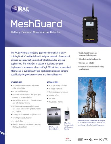 MeshGuard Gas Detection System