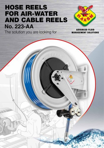 Hose reel and cable reel suitable for workbenches