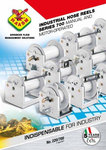 Industrial motorized hose reels