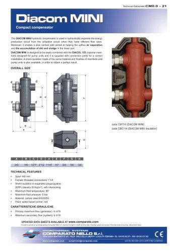 DIACOM MINI hydraulic separators