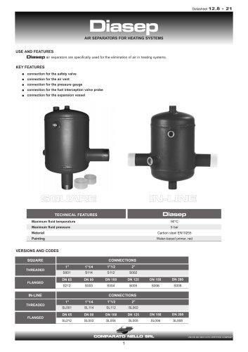 DIASEP air separators