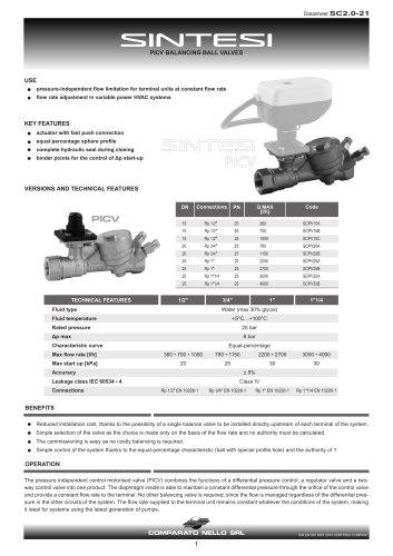 SINTESI PICV brass ball valve
