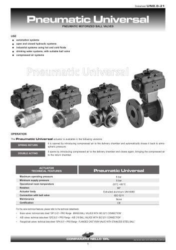 UNIVERSAL PNEUMATICA motorized valve