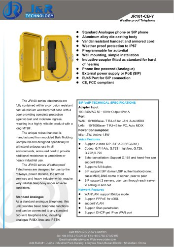 Heavy Duty Industrial Telephone JR101-CB-H