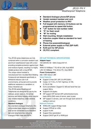 industrial telephone JR101-FK