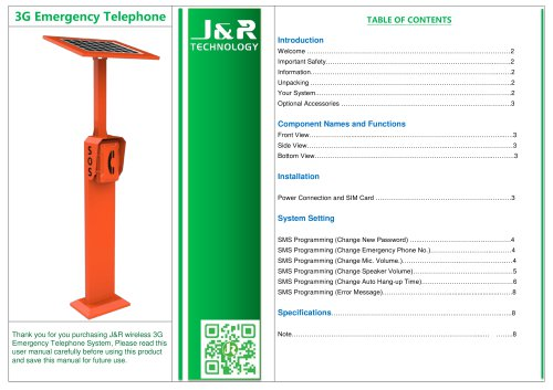 Roadside Emergency Telephone JR-TP-04