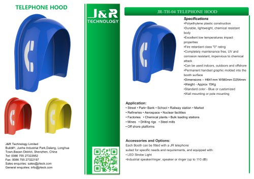 Vandal-Proof Phone Booth JR-TH-04