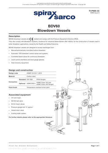 BDV60 Blowdown vessels