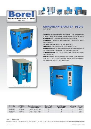 Ammoniak-Spalter 950°C - GE 950