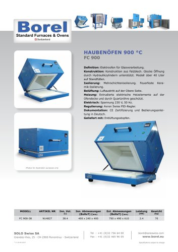 Haubenöfen 900 °C - FC 900