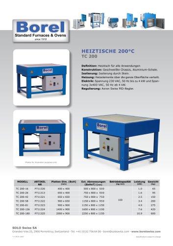 Heiztiche 200°C - TC 200