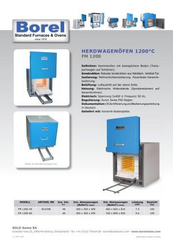 Herdwagenöfen 1200 °C - FM 1200