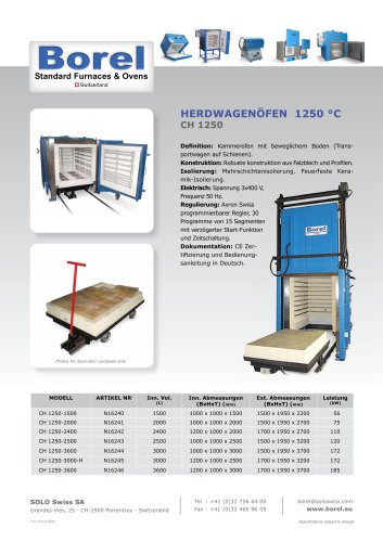Herdwagenöfen 1250 °C - CH 1250