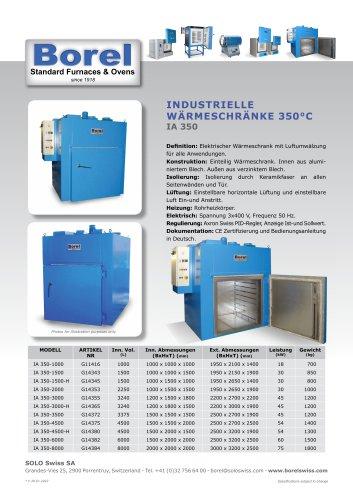 Industrielle Wärmeschränke 350 °C - IA 350