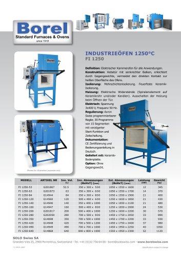Industrieöfen 1250 °C - FI 1250