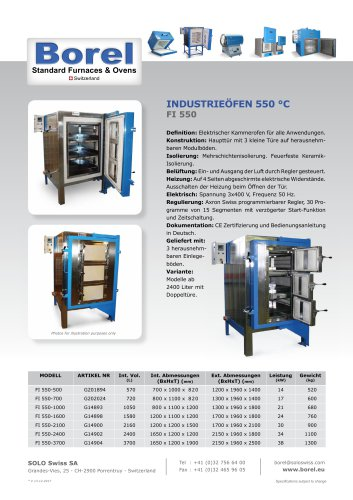 Industrieöfen 550 °C - FI 550