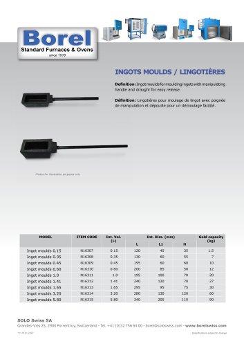 INGOTS MOULDS / LINGOTIÈRES