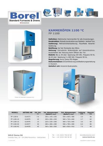 Kammeröfen 1100 °C - FP 1100