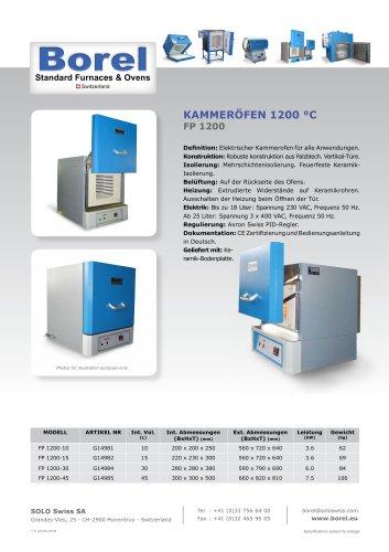 Kammeröfen 1200 °C - FP 1200