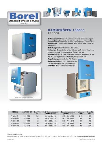 Kammeröfen 1300 °C - FP 1300