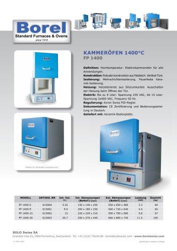 Kammeröfen 1400 °C - FP 1400