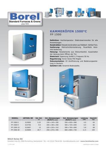 Kammeröfen 1500 °C - FP 1500