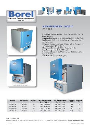 Kammeröfen 1600 °C - FP 1600