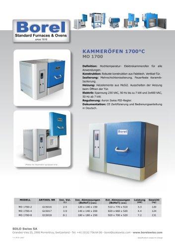 Kammeröfen 1700°C - MO 1700