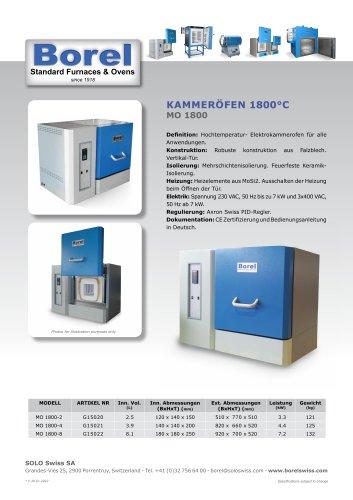 Kammeröfen 1800°C - MO 1800