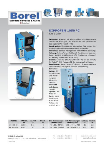 Kippofen 1050°C - KN 1050